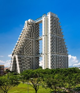 Safdie Architects' newest residential building stands out in Singapore's skyline for its unique fractal-based design.