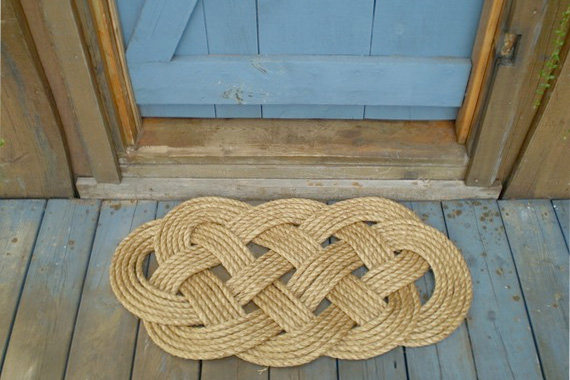 A thick mat for wiping muddy feet is a must for the front door.