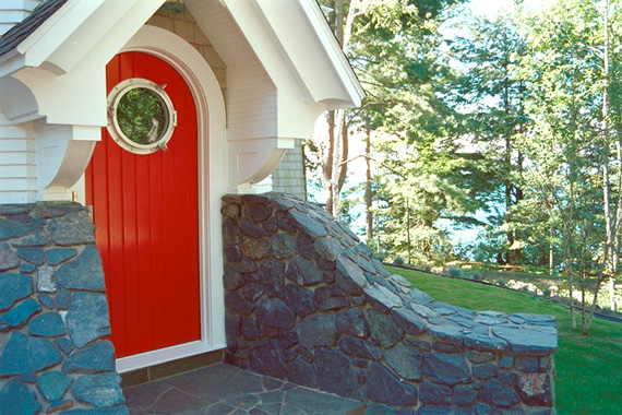 A colorful, high-gloss door will set your home apart from others on the block.