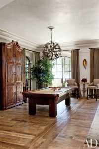 Gisele and Tom Brady's billiard room