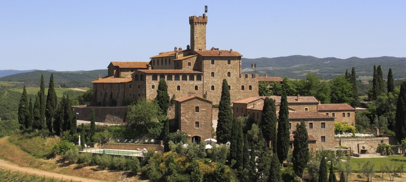 Castello Banfi Il BorgoOne of region's largest wine estates, Banfi's Montalcino property includes a magnificent hilltop castle-fortress, Poggio alle Mura, which first appeared in regional documents in 1318. The castle now houses the winery's tasting room and restaurant, and the stone homes that made up the workers' village in the 1700s have been converted into a 14-room hotel. Beamed ceilings and stone archways prevail in the country-chic lodgings, which offer scenic views over 7,000 acres of hillside vineyards. From $484/night; castellobanfiilborgo.com