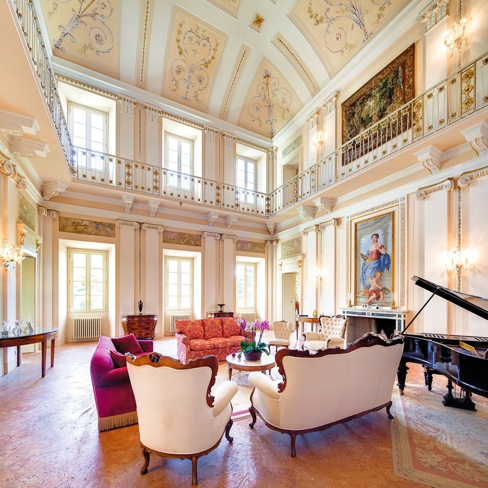 This neoclassical villa was built in the 1700s by Swiss architect Felice Soave and decorated by Giocondo Albertolli, who also did Florence's Uffizi Gallery. The nine-suite property features a public room with frescoes and carved marble accents and gardens complete with a heated swimming pool. Famous guests include composer Vincenzo Bellini (who wrote his opera Norma here), Winston Churchill, and Napoléon Bonaparte. From $39,354/week; thevillapassalacqua.com