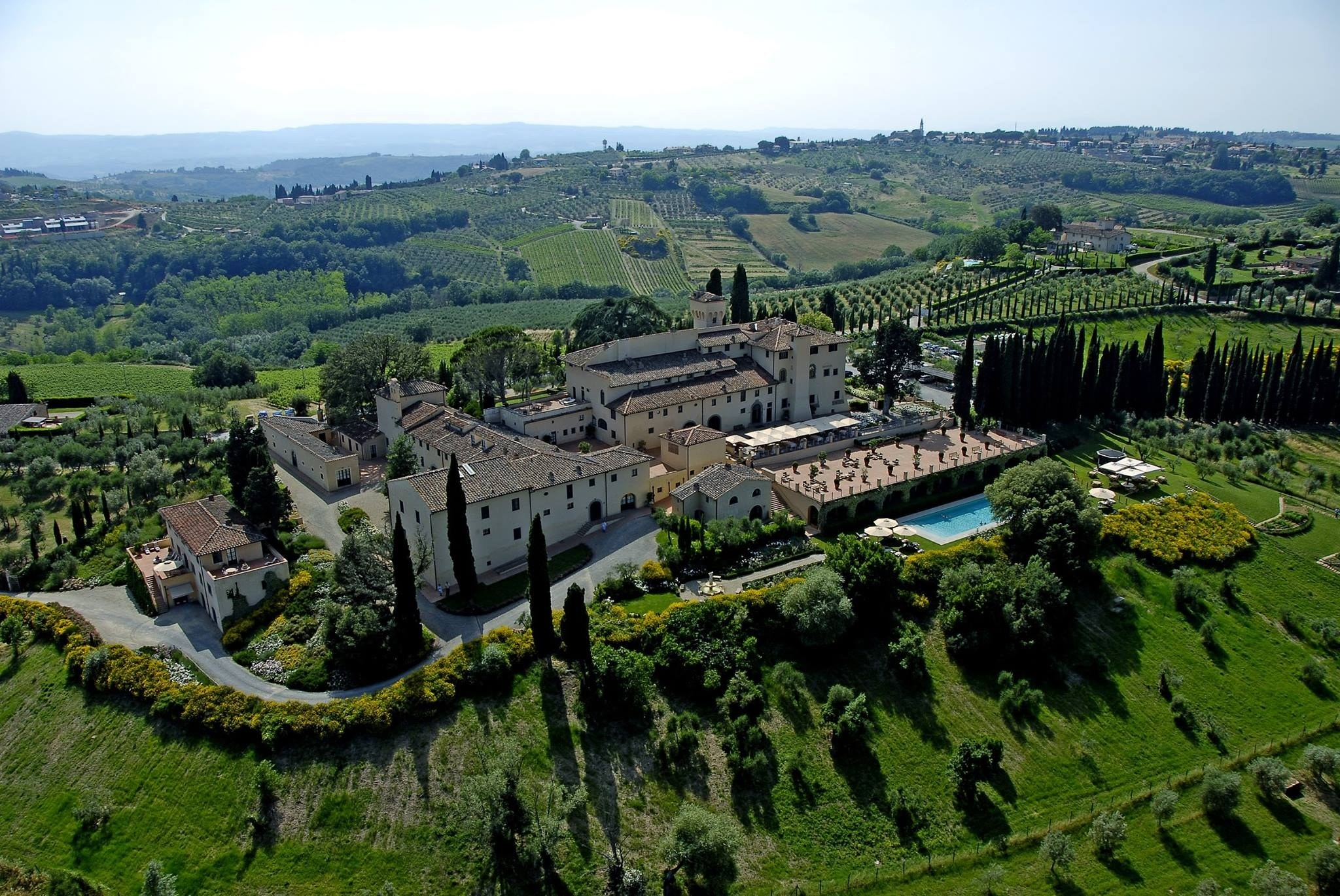 Castello del Nero Hotel & Spa, Tavarnelle Val di PesaSituated midway between Florence and Siena in Tuscany, this luxe 50-room hotel was created from a 12th-century castle and a series of 15th-to-17th-century villas. A museum-quality restoration of the frescoed walls, beamed ceilings, and terra-cotta floors was supervised by the Italian Fine Art Commission. Take the complimentary shuttles into Florence and Siena for more arts, or just stay on-site and indulge at the Espa spa (the largest in Italy) or Michelin-starred restaurant La Torre. From $483/night; castellodelnero.com