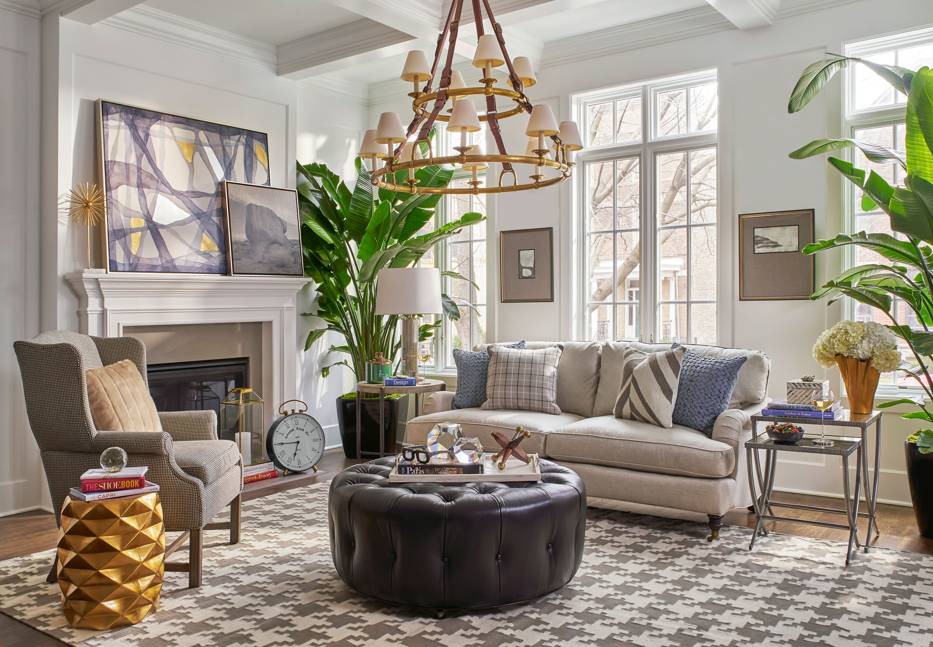 """To create a visually appealing space without bringing in too many colors, incorporate a variety of textures and patterns. Try houndstooth, plaid, or basket-weave patterns in neutral colors. To add texture, experiment with leather, wool, or faux fur for a sophisticated look."""