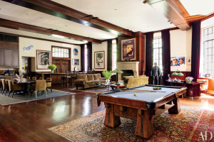 Peter Guber's billiard room